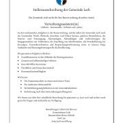 Stellenausschreibung der Gemeinde Lech